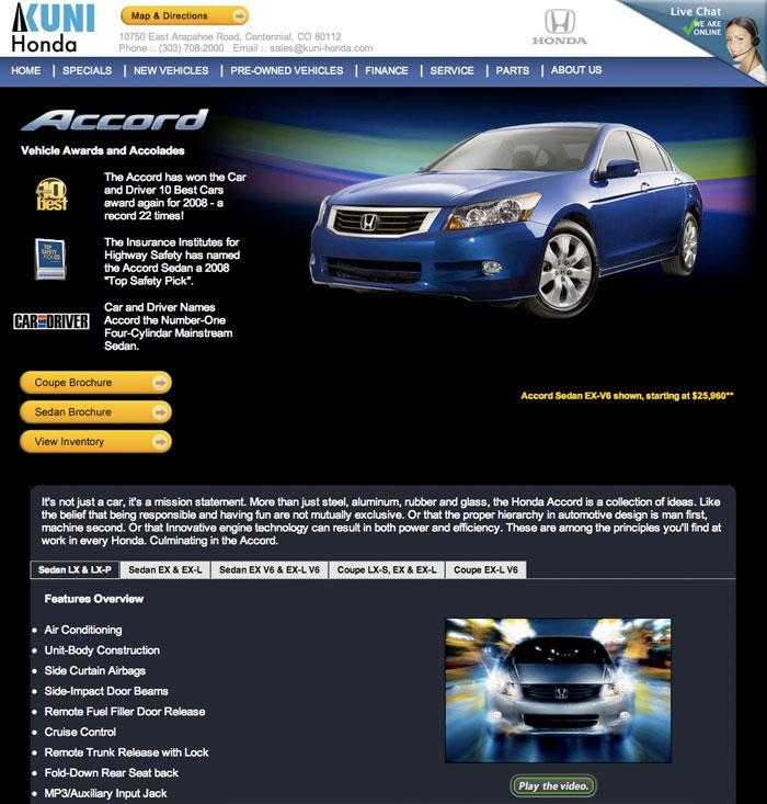 Honda Dealership Denver >> Denver Colorado Web Master Denver Honda Dealership Ben Wedel