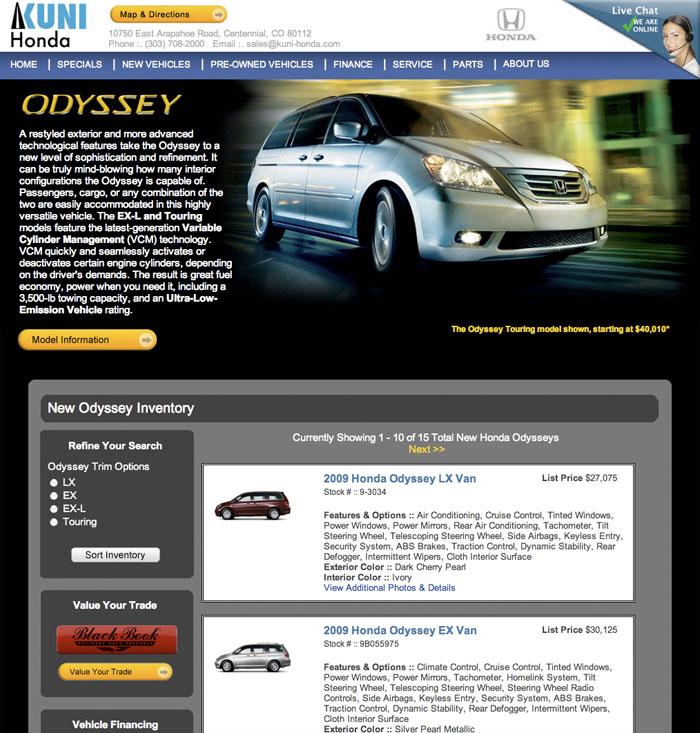 Denver Colorado Web Master - Denver Honda Dealership - Ben Wedel